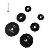 7 PCS/Set Electric Grinder Saw Blade High Speed Steel Saw Blade Woodworking Saw Blade High Speed Steel Cutting Piece, Model: 11027