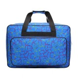 Outdoor Multifunctional Oxford Large Capacity Printing Travel Bag Female Fashion Sports Fitness Bag Household Sewing Machine Bag (Blue)
