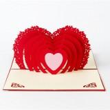 Greeting Card Love Romantic Birthday Wedding Aniversary Valentine's Day Invitations Greeting Cards Gifts, Size: 10x15cm
