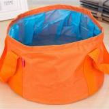 Portable Outdoor 600D Oxford Cloth Fishing Water Basin Travel Camping Washbasin Bucket Sink Bag, Color: Orange