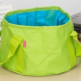 Portable Outdoor 600D Oxford Cloth Fishing Water Basin Travel Camping Washbasin Bucket Sink Bag, Color: Green
