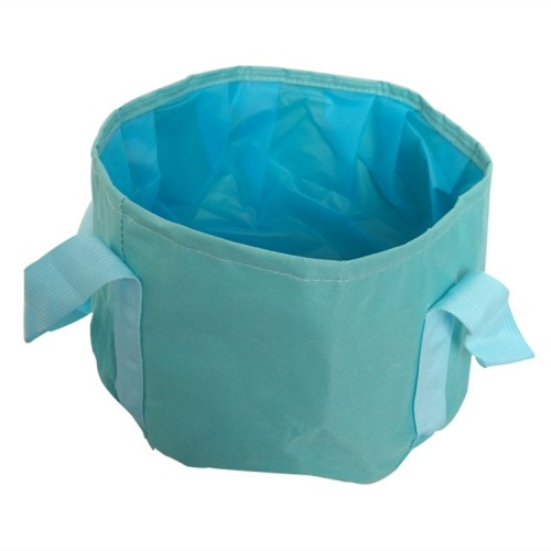 Portable Outdoor 600D Oxford Cloth Fishing Water Basin Travel Camping Washbasin Bucket Sink Bag, Color: Blue
