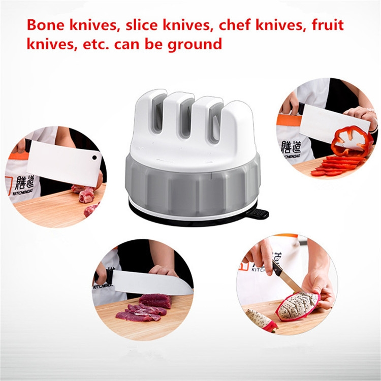 Kitchen Suction Cup Knife Sharpener Household Knife Sharpening Tool