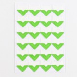 2 PCS Colorful Models Monochrome Simple Corner Stickers Album Accessories Phase Stickers (Green)