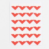 2 PCS Colorful Models Monochrome Simple Corner Stickers Album Accessories Phase Stickers (Red)