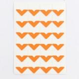 2 PCS Colorful Models Monochrome Simple Corner Stickers Album Accessories Phase Stickers (Orange)