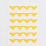 2 PCS Colorful Models Monochrome Simple Corner Stickers Album Accessories Phase Stickers (Orange Yellow)