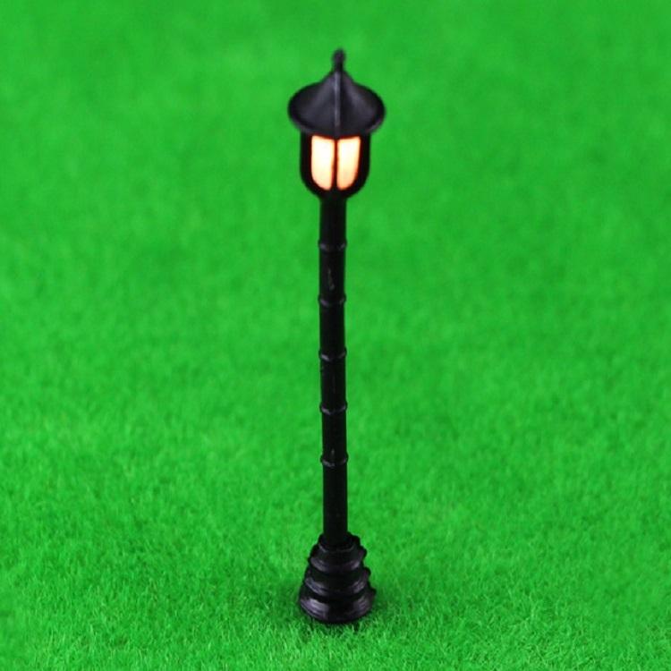 2 PCS Garden Miniature Mini Street Light Sand Table Single Head Light Street Lamp Model, Specification: Hexagon