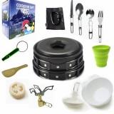 Camping cookware Outdoor cookware set (Black)