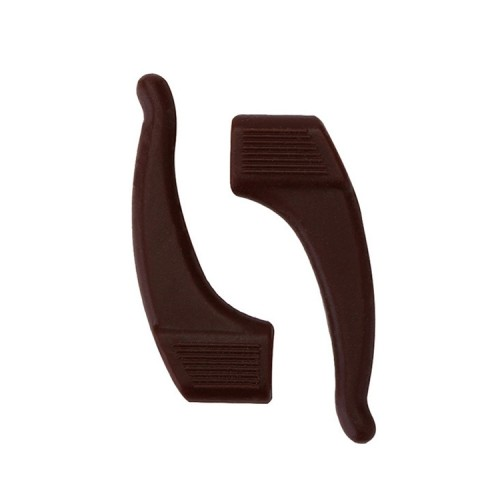 10 Pairs Glasses Non-slip Cover Ear Support Glasses Foot Silicone Non-slip Sleeve (Brown)