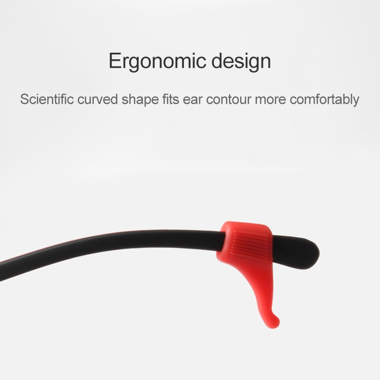 10 Pairs Glasses Non-slip Cover Ear Support Glasses Foot Silicone Non-slip Sleeve (Red)