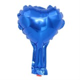 50 PCS Wedding Holiday Party Decoration Love Light Board Aluminum Foil Balloon, Specification: 5inch Heart Shaped (Blue)