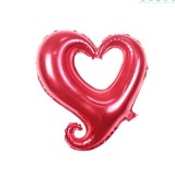 50 PCS Hollow Aluminum Heart Balloons for Wedding Party Decoration, Specification: 18inch Heart Shaped (Red)