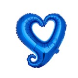 50 PCS Hollow Aluminum Heart Balloons for Wedding Party Decoration, Specification: 18inch Heart Shaped (Blue)