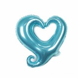 50 PCS Hollow Aluminum Heart Balloons for Wedding Party Decoration, Specification: 18inch Heart Shaped (Pearl Blue)