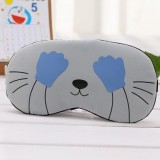 3 PCS Cartoon Eye Mask Soft Padded Sleep Travel Shade Cover Rest Relax Eye Sleeping Mask Case (Blue Hand)