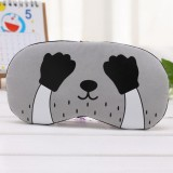 3 PCS Cartoon Eye Mask Soft Padded Sleep Travel Shade Cover Rest Relax Eye Sleeping Mask Case (Black Hand)