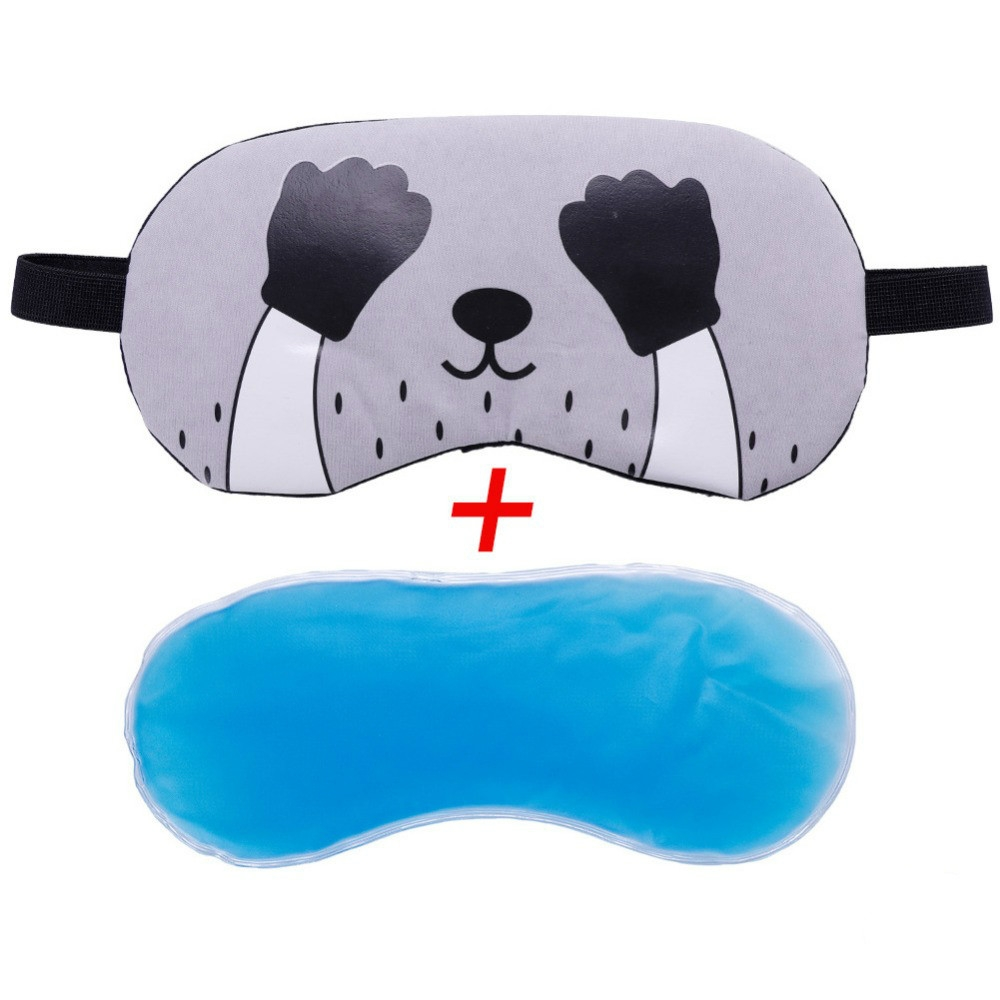 3 PCS Cartoon Eye Mask Soft Padded Sleep Travel Shade Cover Rest Relax Eye Sleeping Mask Case (Pink Cat)