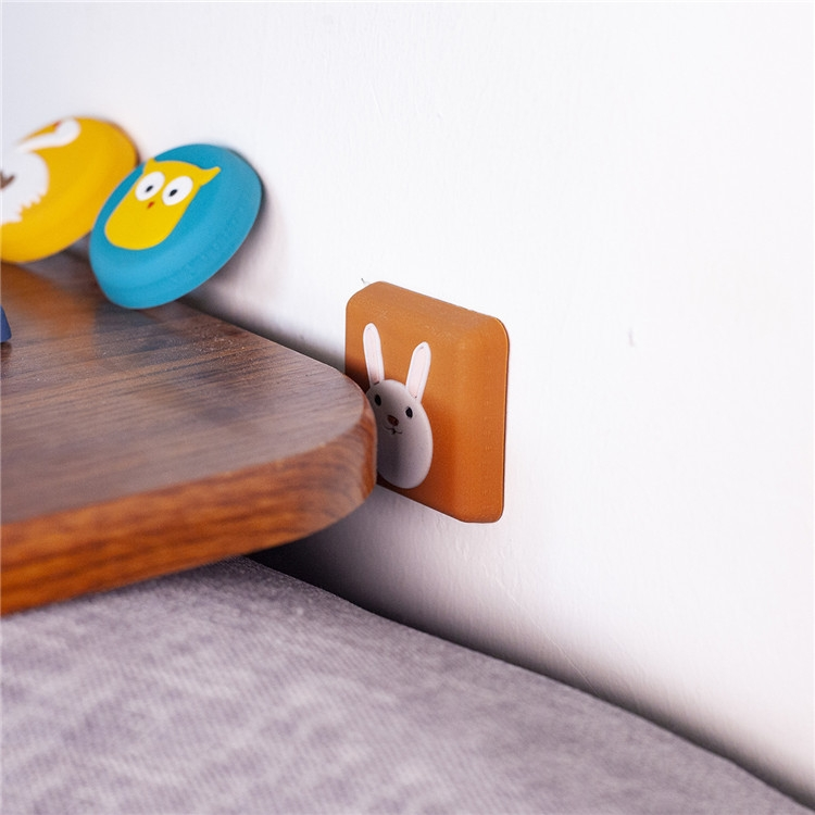 10 PCS Crash Pad for Wall Door Handle Silicone Cushion Pad (Swan)