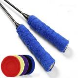 Non-slip Badminton Hand Gel Large Roll Tennis Racket Sweat Band (Black)