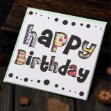 5 PCS Creative Cutout Beautiful Birthday Greeting Card (Happy Birthday)