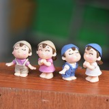 4 PCS Boys and Girls Micro Landscape Ornaments Toy House Decorations, Random Style Delivery