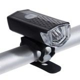 Bicycle Highlight USB Rechargeable Lamp Waterproof Bicycle Headlight Taillight Set (Black Single Headlight)