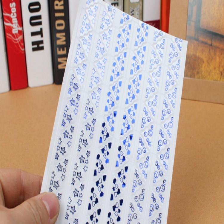 3 PCS Hot Stamping Corner Stickers (Blue)