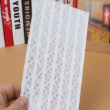 3 PCS Hot Stamping Corner Stickers (Silver)