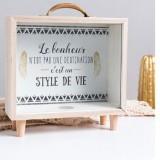 Creative Wooden Art Fresh Piggy Bank Bedroom Desktop Decoration Ornaments Sundries Storage Box, Style: Handle Wooden Storage Box – A