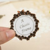 2 PCS Creative Metal Vintage Photo Frame (Butterfly Round)