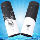 Deer Pattern Insulated Thermos Vacuum Bottle Stainless Steel Thermos Cup Thermal bottle with Tea Strainer, Capacity: 350ml
