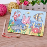 Wooden Magnetic Small Fishing Parent Child Interactive Educational Toys
