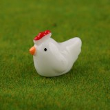 3 PCS Handmade Sand Table Models Micro Landscape Decoration Meaty Ornaments (White Hen)