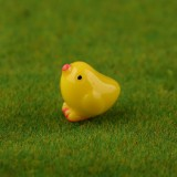 3 PCS Handmade Sand Table Models Micro Landscape Decoration Meaty Ornaments (Little Yellow Chicken)