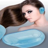 4 PCS Oyster Sauce Dyeing Hot Hair Anti-fouling Earmuffs High Temperature Acid and Alkali Waterproof Earmuffs (Blue)