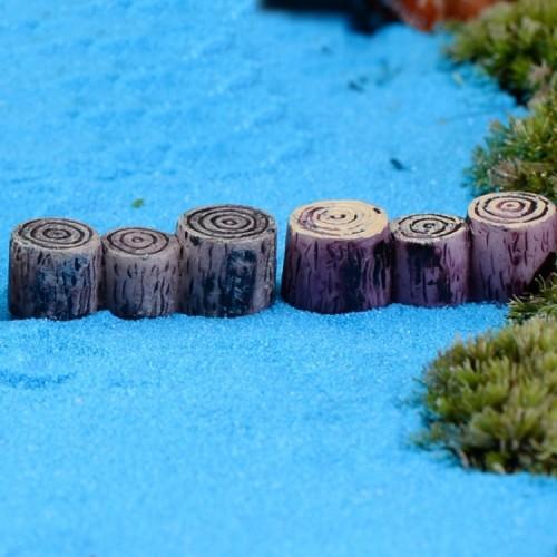 3 PCS Handmade Sand Table Model Micro Landscape Decorative Wood Pile Wooden Pier Stump Ornaments, Random Color Delivery, Style: Wooden Pile Bridge