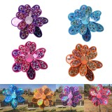 Outdoor Decoration Children Educational Toys Double Sequins Peacock Windmill, Random Color Delivery