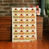 2 PCS Retro Flower Phase Corner Stickers Kraft Paper Corner Stickers (Solid Color Brush)
