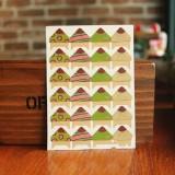 2 PCS Retro Flower Phase Corner Stickers Kraft Paper Corner Stickers (Pattern Brush)