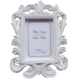 10 PCS Vintage Decorative Flower Photo Frame Wedding Home Decor Desktop Picture Frame (White)