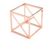 5 PCS Beauty Egg Shelf Storage Box Rack Puff Makeup Sponge Egg Dustproof Bracket, Model: Square (Rose Gold)
