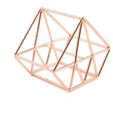 5 PCS Beauty Egg Shelf Storage Box Rack Puff Makeup Sponge Egg Dustproof Bracket, Model: Diamond (Rose Gold)