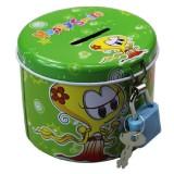 4 PCS Tin Piggy Bank Kindergarten Gifts for Kids, Random Color Delivery
