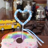 2 PCS Hairball Cake Dessert Table Decoration Inserted Card, Style: Love (Blue)