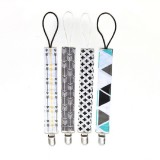 4 PCS/Set Baby Pacifier Chain Clip Cotton Double Printed Pacifier Chain (Cross Arrow)