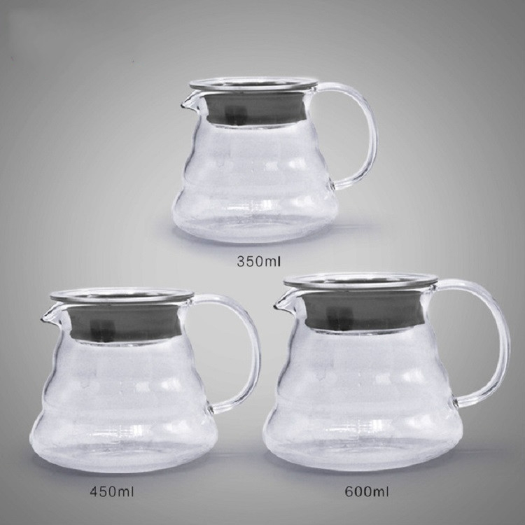 Heat-resistant Hand-made Coffee Glass Pot Cloud Coffee Sharing Pot, Specification: 350ml Glass Pot