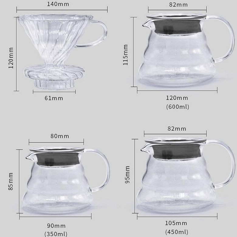 Heat-resistant Hand-made Coffee Glass Pot Cloud Coffee Sharing Pot, Specification: 450ml Glass Pot