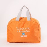 3 PCS Fashion Travel Bag Large Capacity Women Polyester Folding Bags Duffle Bag Waterproof Journey Handbags (Orange)