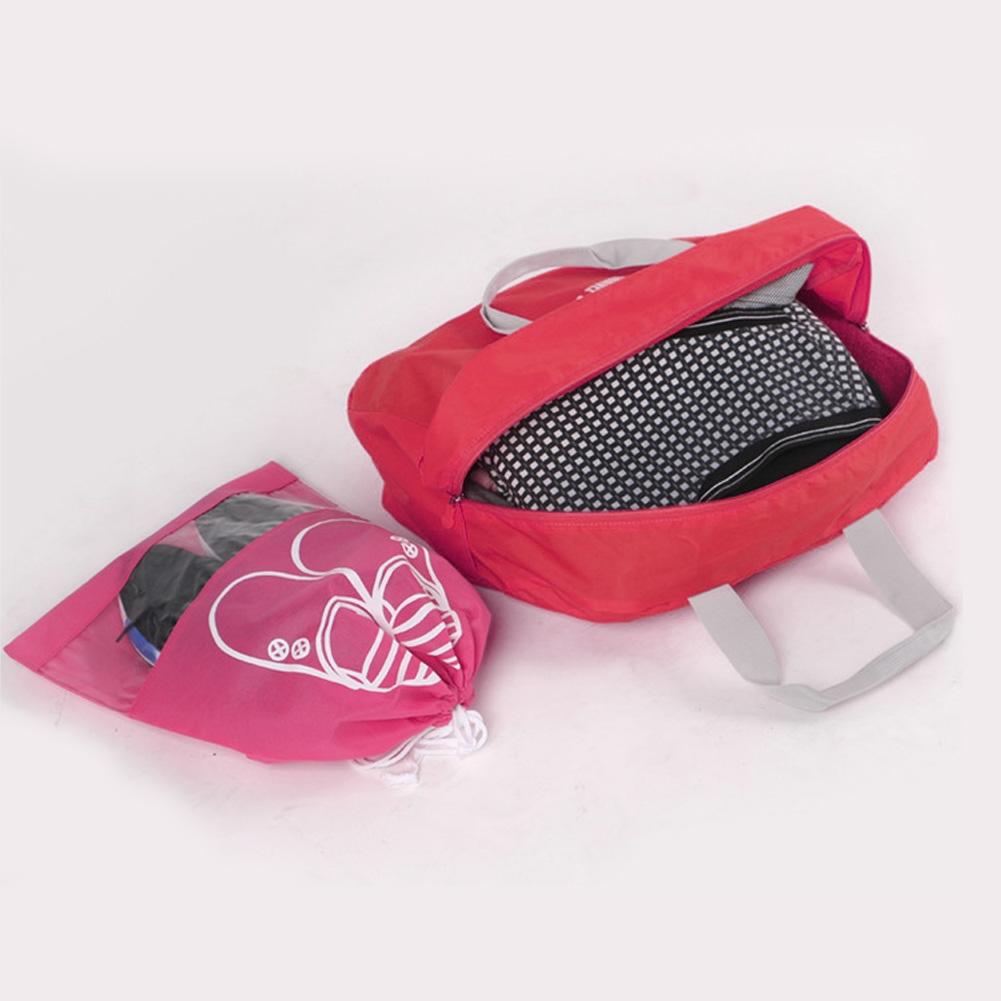 3 PCS Fashion Travel Bag Large Capacity Women Polyester Folding Bags Duffle Bag Waterproof Journey Handbags (Orange)